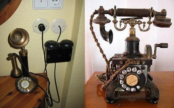 الهاتف قديما وحديثا بالانجليزي